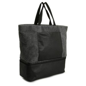 NWT Felt Gray DSW Tote with Shoe Compartment